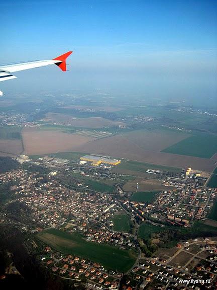 Виды на Чехию с самолёта