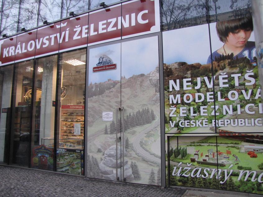 Магазин моделей в Праге