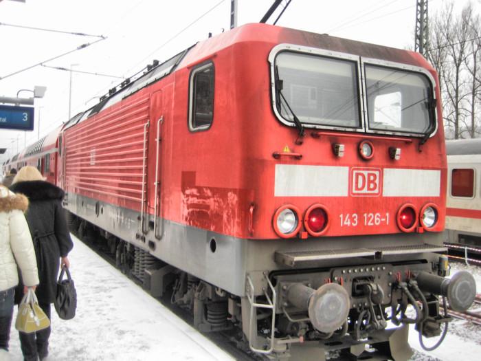 Электровоз по пути из Праги в Дрезден