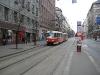 Трамвай в Праге. 22 маршрут около остановки Степанска.