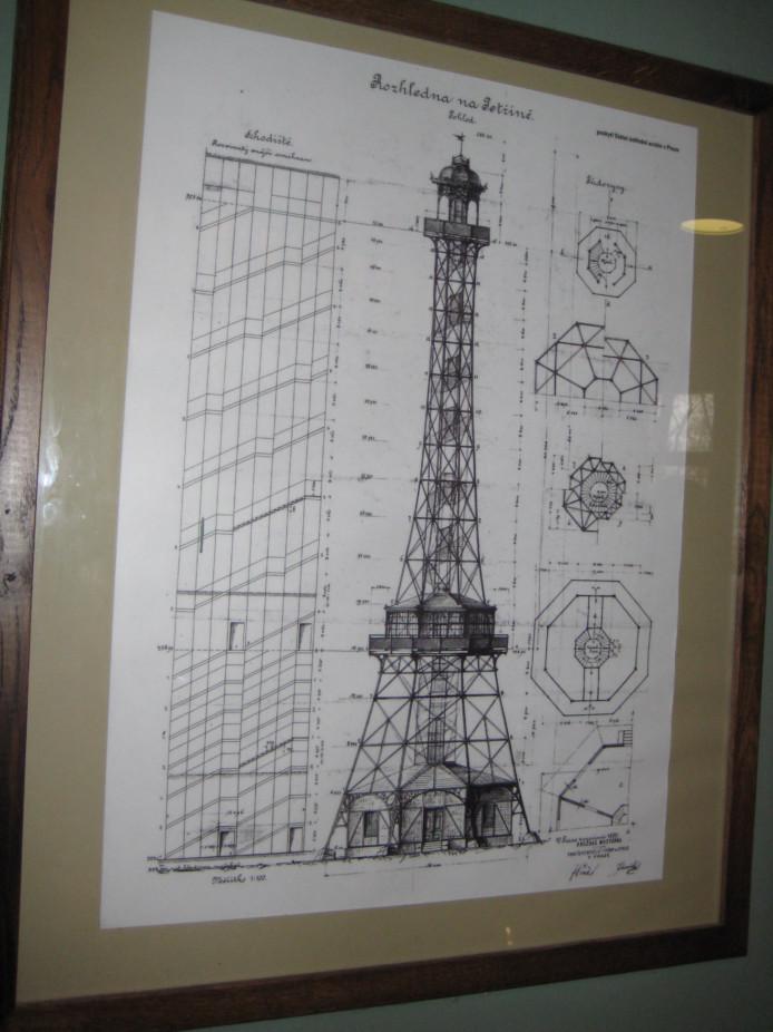 Схема башни на холме Петршин