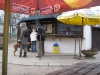 Кафешка у подножья башни на холме Петршин
