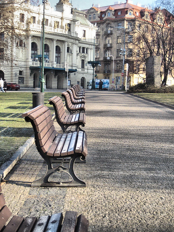 Парк около костела святой Людмилы
