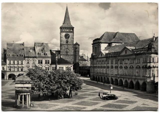 Чехия. Йи́чин (Jicin). Площадь Готвальда.