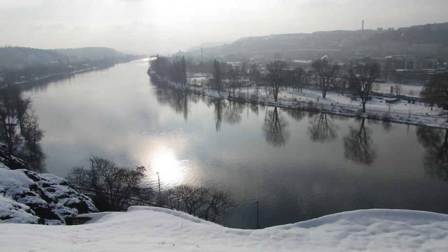 Вышеград в Праге. Виды на Влтаву.