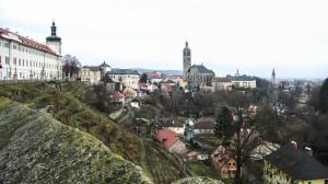 Вид на Кутну Гору со стороны собора св. Варвары