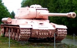 Розовый танк в П