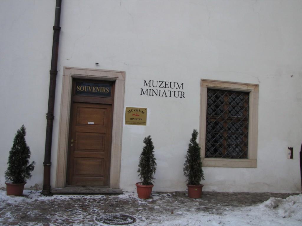 Так выглядит вход в музей Миниатюр в Праге