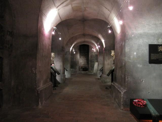 Крипта храма Св. Кирилла и Мефодия в Праге. Общий вид.