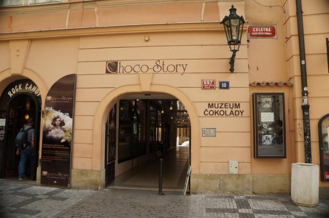 Музей шоколада в Праге находится на улице Целетна 10