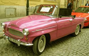 На кабриолете по Праге