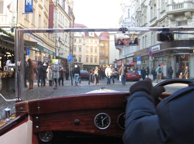 Прогулка на старой Шкоде по старой Праге