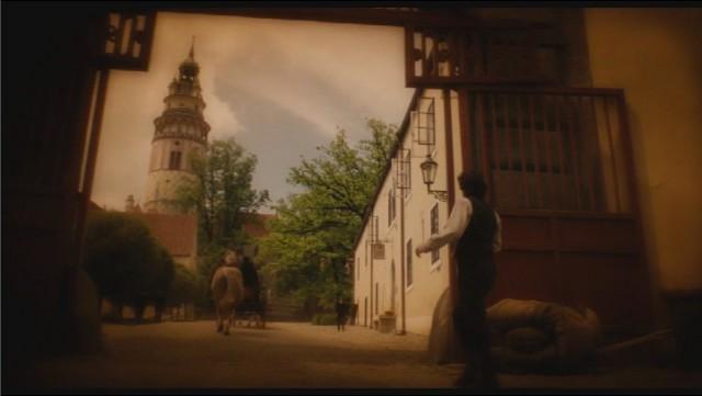 Кадр из фильма Иллюзионист в Чешском Крумлове.