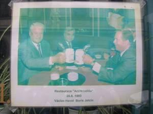 Ельцин в Праге