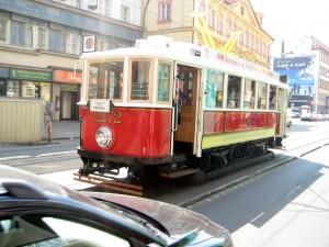 Исторический трамвайный маршрут 91 в Праге