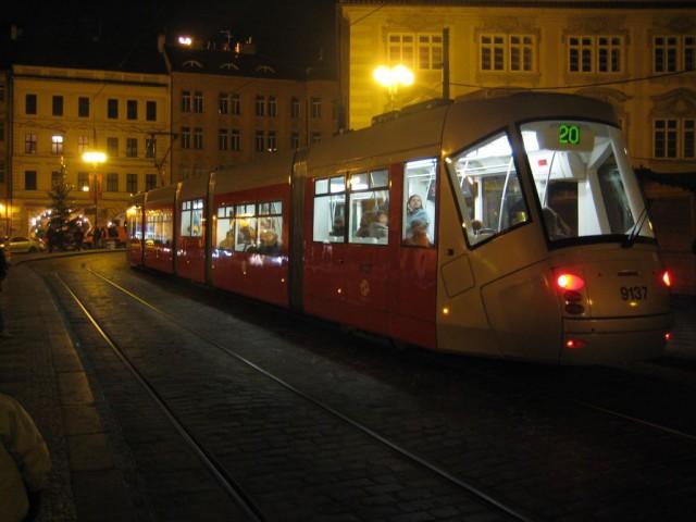 Трамвайная остановка на Малостранской площади