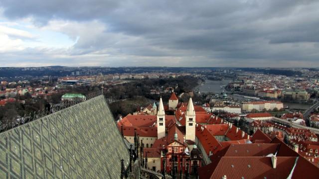 Виды с  собора святого Вита в Праге