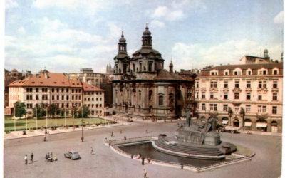 Старые и новые фотографии мест Праги