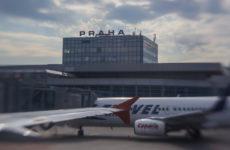 Вид на Прагу из самолета