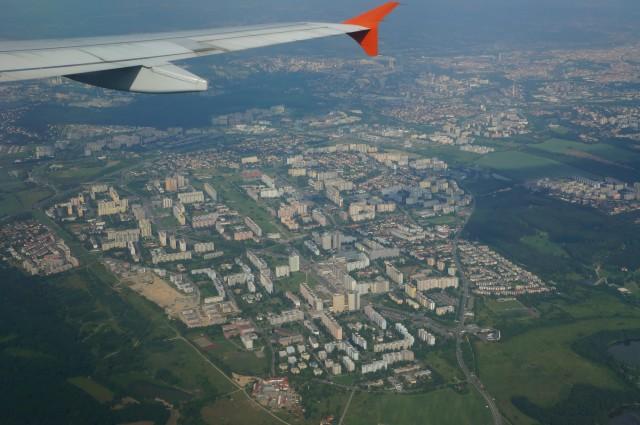 Вид на Прагу с самолета