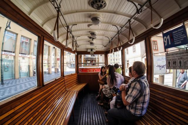 Трамвай 91 в Праге