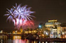 Салют в Праге на новый год 2013