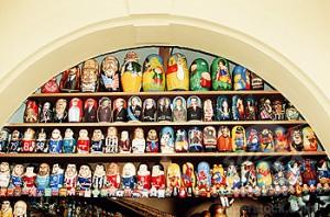 Магазин Матрешек в Праге