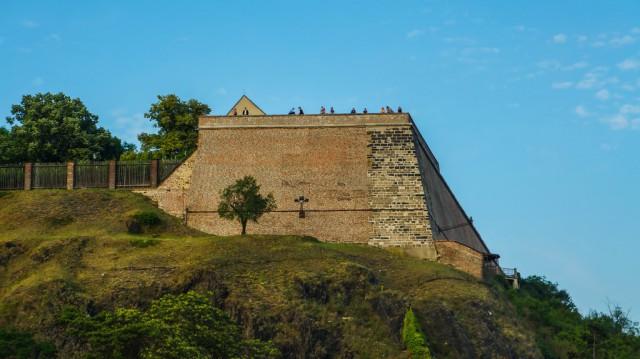 Вид на крепость Вышеград с Влтавы.