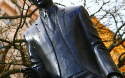 Памятник Францу Кафке в Праге