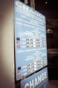 Обман при обмене валюты в Праге