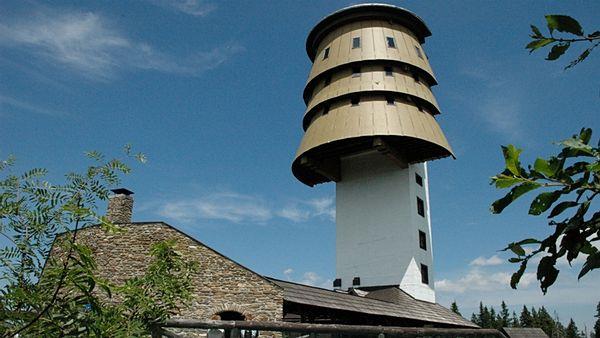 Смотровая башняв заповеднике Шумава в Чехии