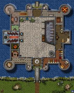 План замка Бодиам в Великобритании