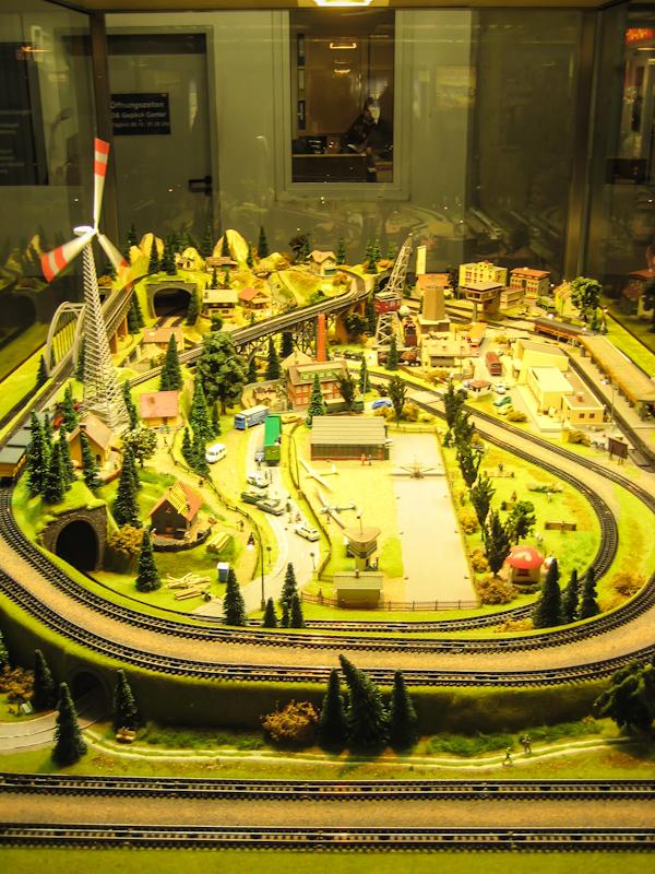 ЖД макет на вокзале в Дрездене