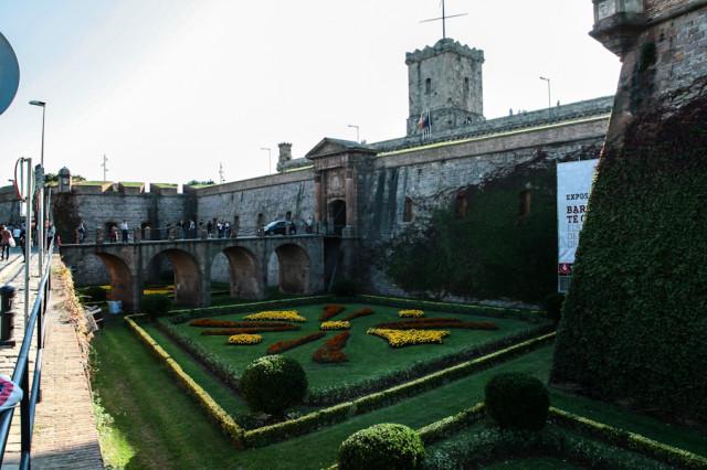Замок Монжуик в Барселоне на одноименном холме Монжуик