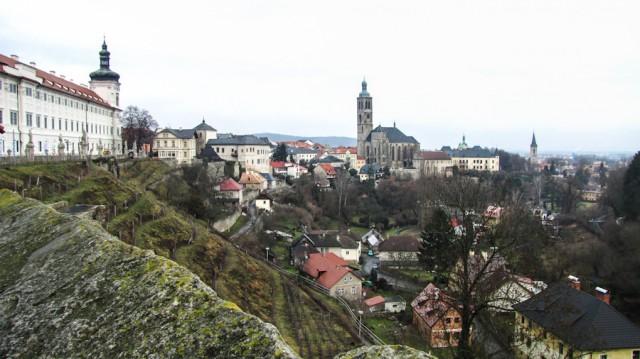Вид на Кутну Гору и Церковь Святого Иакова