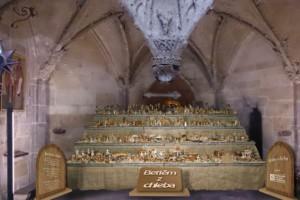 Вертеп из хлеба в соборе Св. Вита