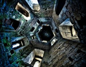 Внутренний вид в замке Бодиам