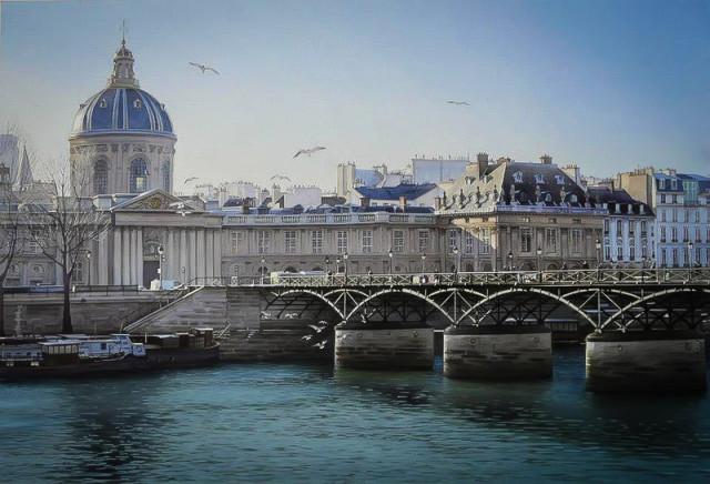 Парижский мост искусств, известный ещё как Пассарель