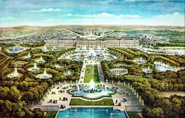 План садов и фонтанов в Версальском дворце