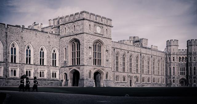 Вид на Виндзорский замок в Англии