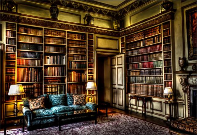 Библиотека в замке Лидс