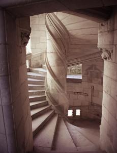 Винтовая лестница во Французском замке Шамбор