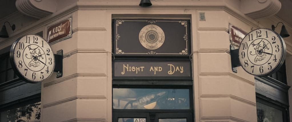 в фото день ресторан ночь праге и