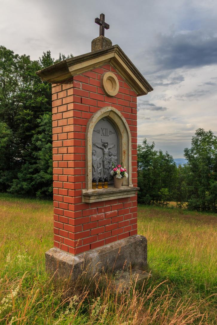 Обзорная башня на горе Табор в Чехии