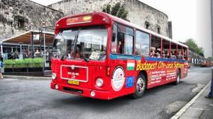 Туристический автобус в Будапеште