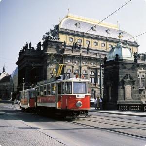 Ретро трамвай в Праге