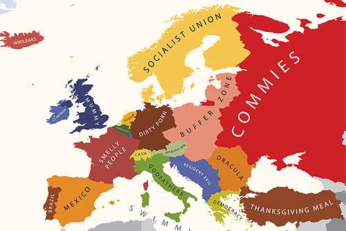 Европа по мнению Американцев